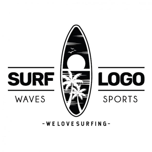 Logo surf Vettore Premium