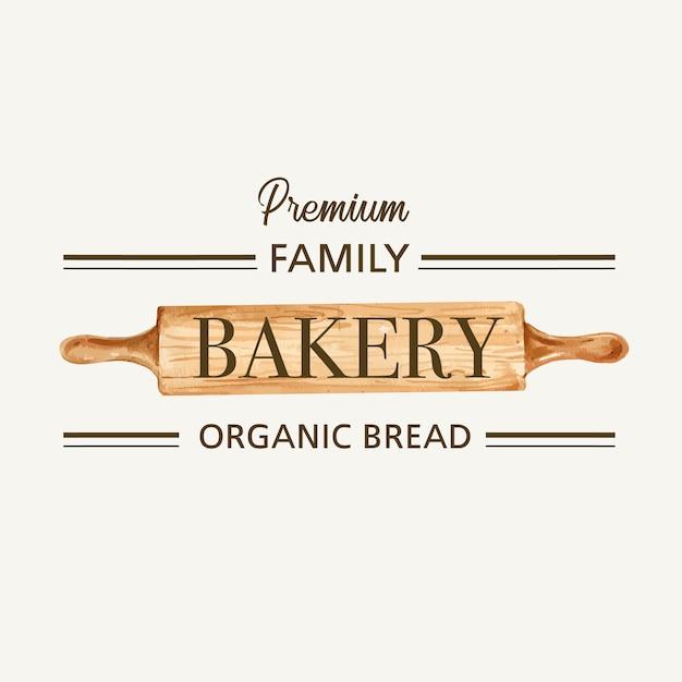 Logo symbol modello di panetteria. Vettore gratuito