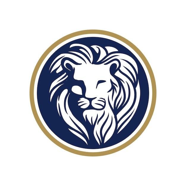 Logo testa di leone Vettore Premium