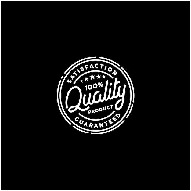 Logo timbro prodotto di qualità garantita al 100% Vettore Premium