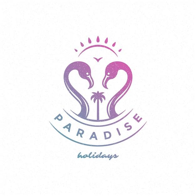 Logo vacanze estive Vettore Premium