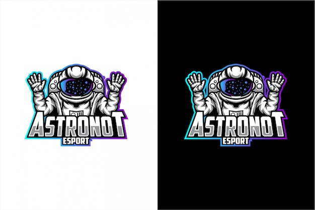 Logo vettoriale astronauta Vettore Premium