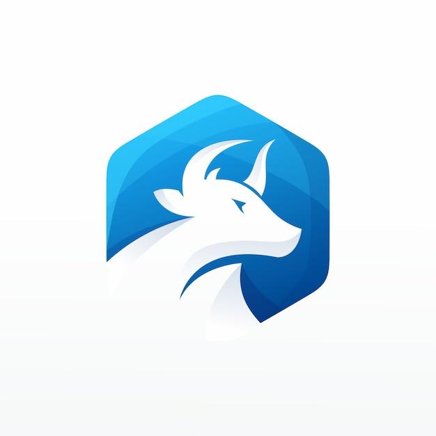 Logo vettoriale di mucca Vettore Premium