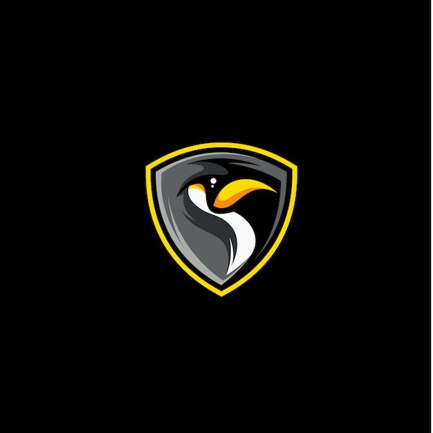 Logo vettoriale pinguino Vettore Premium