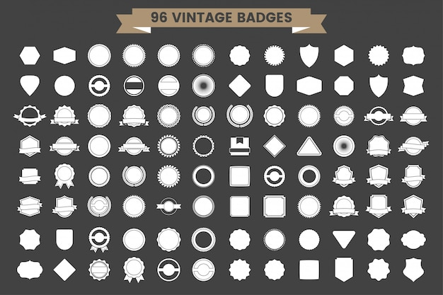 Logo vettoriale retrò vintage per banner Vettore Premium