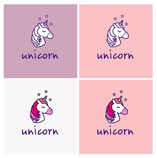Logo Vettoriale Unicorno Isolato Su Sfondo Bianco Scaricare