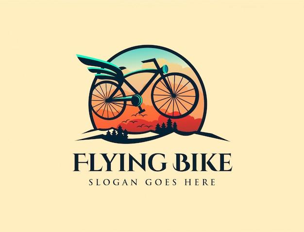 Logo vintage volante retrò Vettore Premium