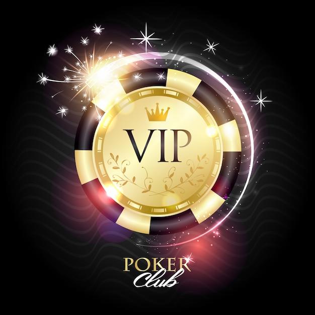 Logo vip poker club Vettore Premium
