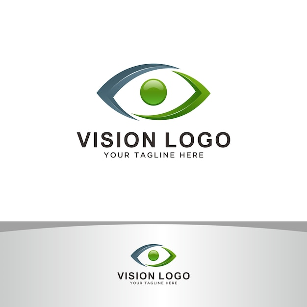 Logo visione astratta Vettore Premium