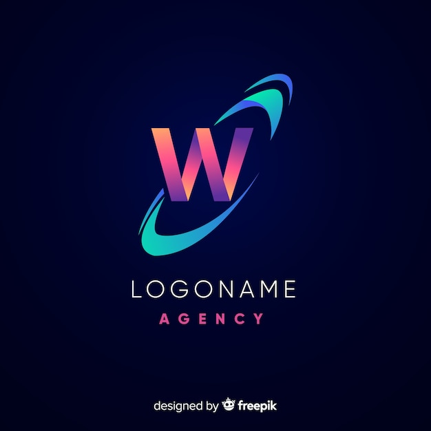 Logotipo astratto Vettore gratuito