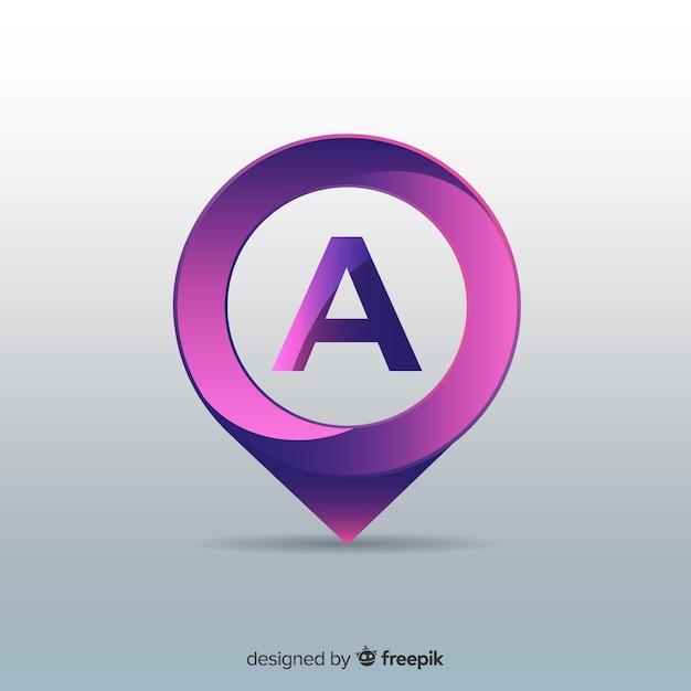 Logotipo di affari astratto arrotondato gradiente Vettore gratuito