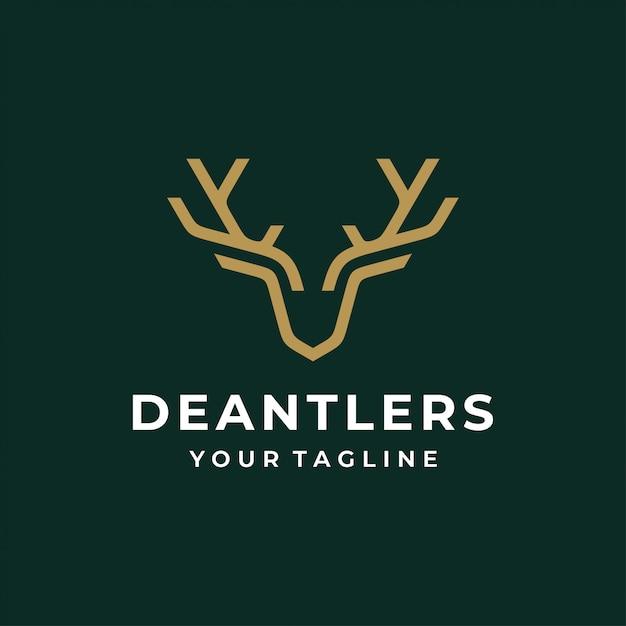 Logotipo di cervo Vettore Premium