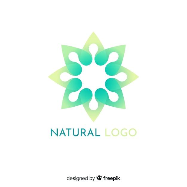Logotipo di concetto di natura gradiente piatto Vettore gratuito