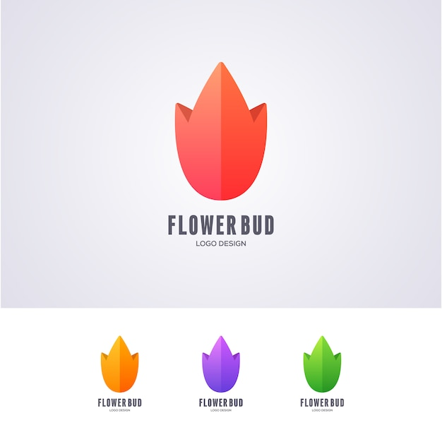 Lotus logo bud logo design Vettore Premium