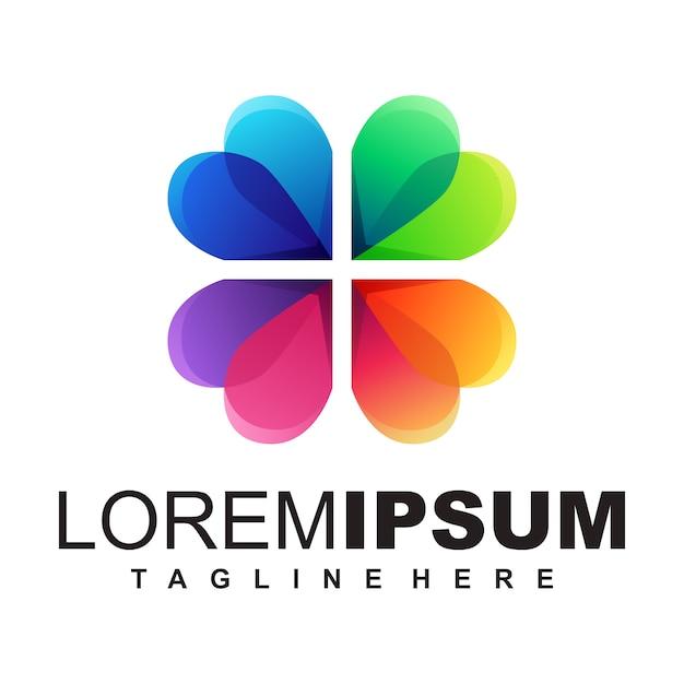 Lotus logo design illustration Vettore Premium
