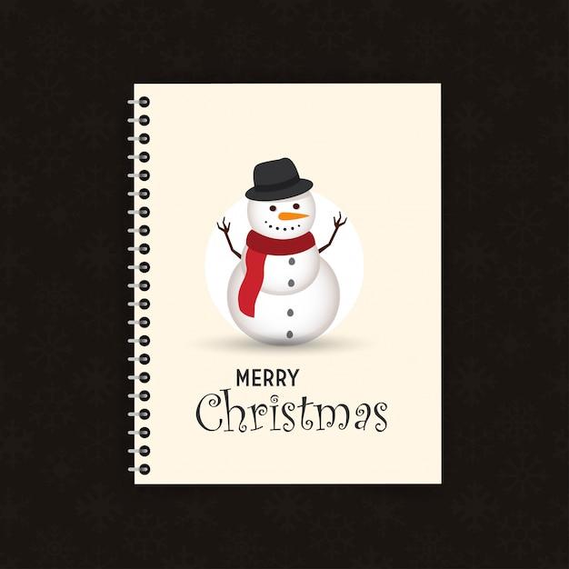 Lovely christmas pupazzo di neve e santa clause sfondo con design piatto Vettore gratuito