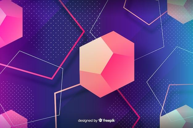 Low poly forme geometriche disegno di sfondo Vettore gratuito