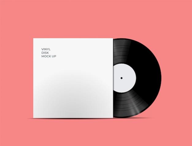 Lp record cover per disco in vinile con disco in vinile all'interno Vettore Premium
