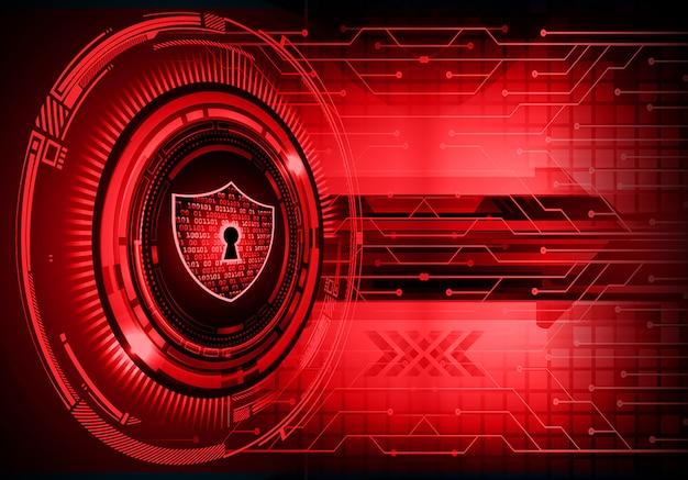 Lucchetto chiuso su sfondo digitale, sicurezza informatica Vettore Premium