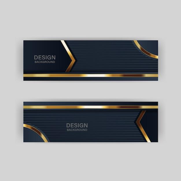 Luce di sfondo glitter con colore astratto tecnologia moderna banner oro Vettore Premium