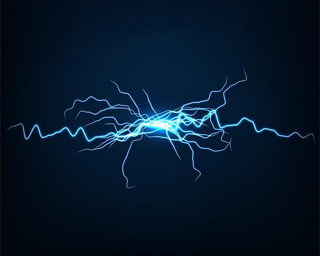 Luce elettrica di vettore astratto del fondo. Vettore Premium