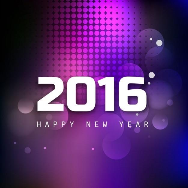 Lucido nuovo anno 2016 cartolina d'auguri Vettore gratuito