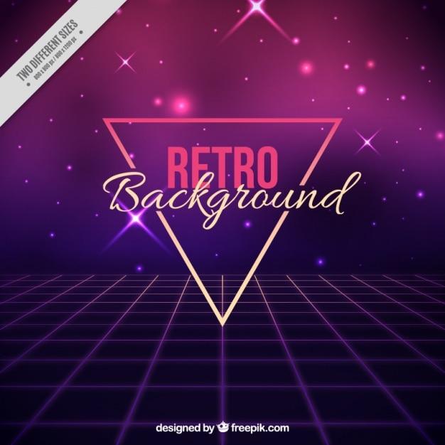 Luminoso astratto sfondo in stile anni ottanta Vettore gratuito