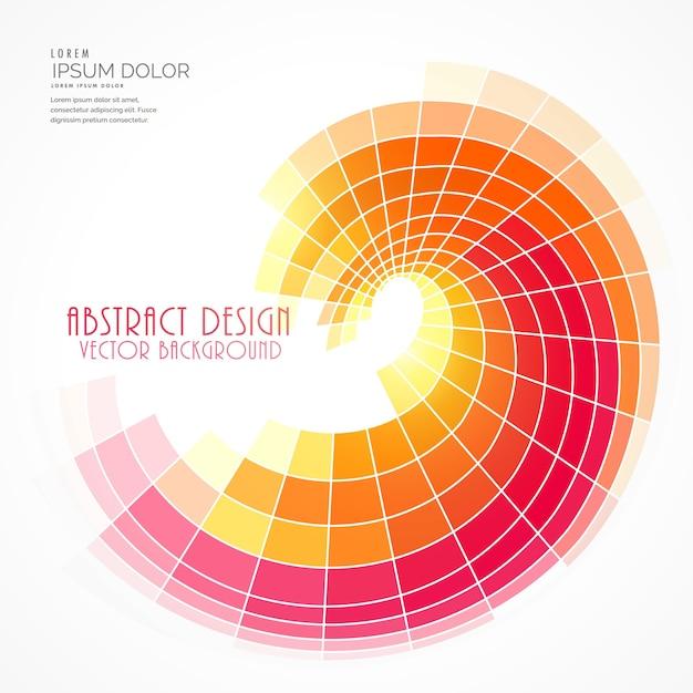 Luminoso mosaico a spirale Vettore gratuito