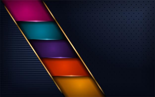 Lussuoso moderno sfondo colorato Vettore Premium