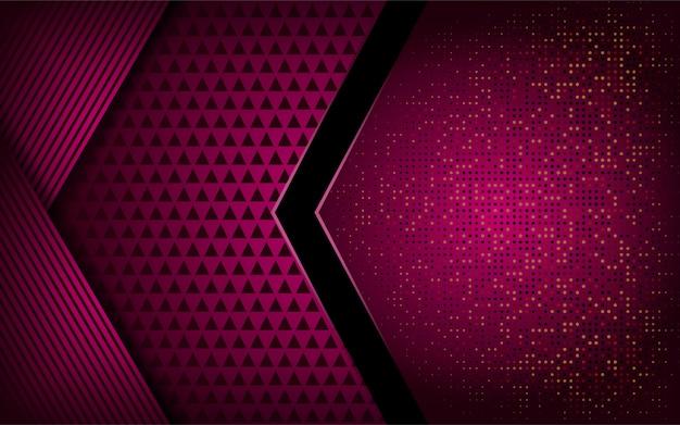 Lussuoso moderno sfondo rosa brillante Vettore Premium