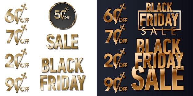 Lustro nero oro brilla sfondo. super vendita venerdì logo per banner, web, intestazione e flyer, design. Vettore Premium