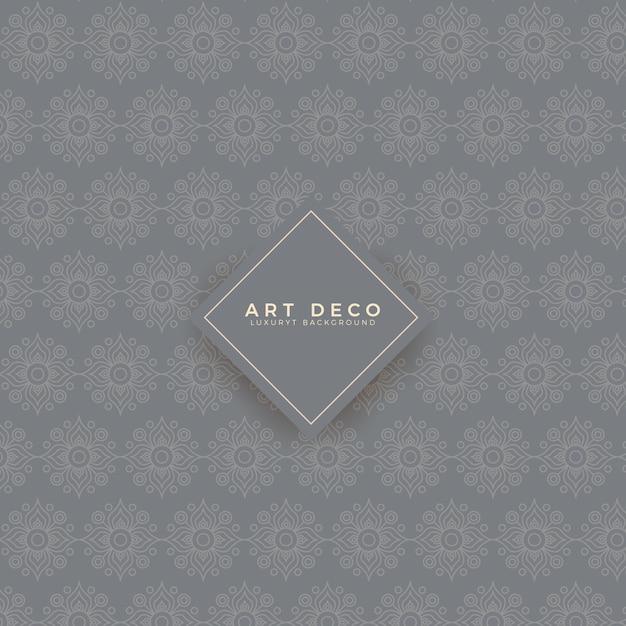 Luxury art deco pattern Vettore Premium