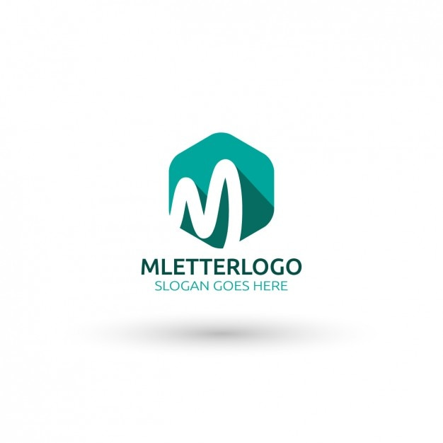 M lettera logo template Vettore gratuito