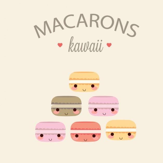 Macarons collezione colorata Vettore gratuito