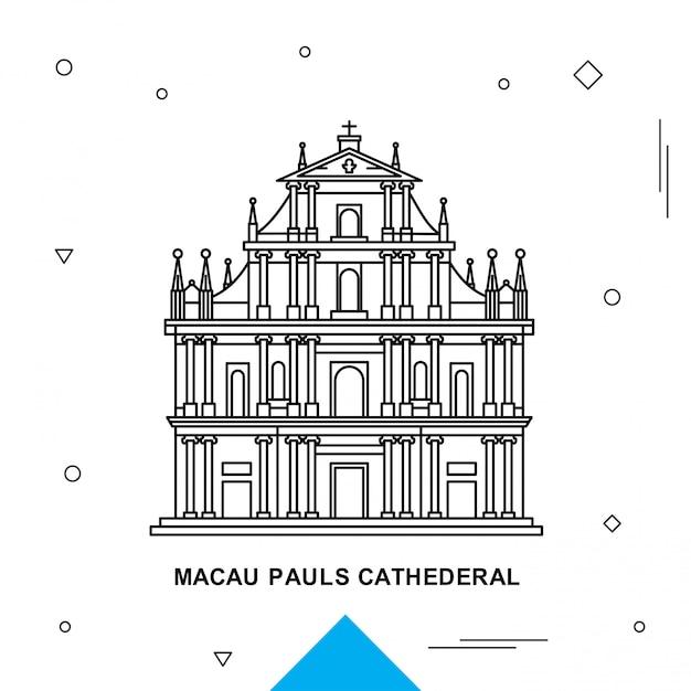 Macau pauls cathederal Vettore Premium