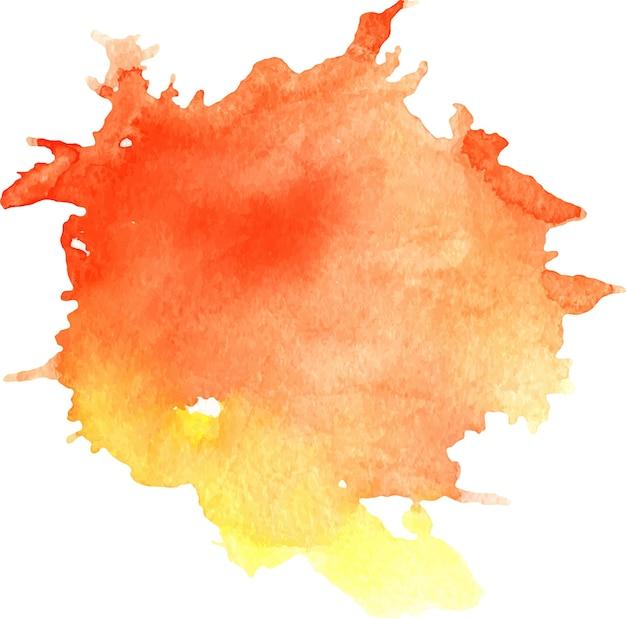 macchia di acquerello rosso e giallo con macchie texture