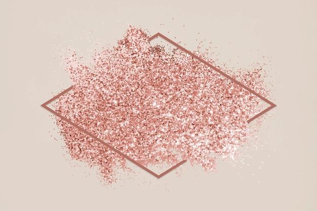 Macchia di glitter rosa Vettore gratuito