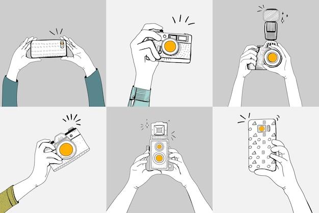 Macchine fotografiche Vettore gratuito
