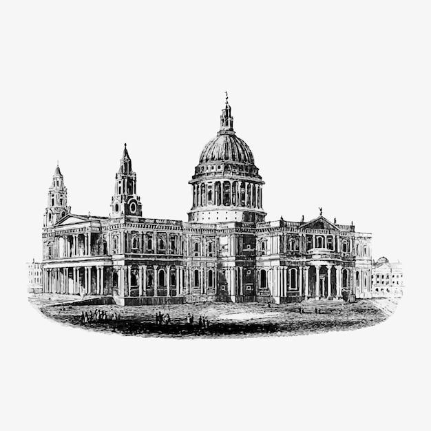 Maestosa architettura londinese Vettore gratuito
