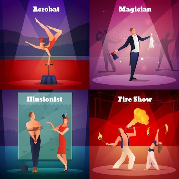 Magia show design concept Vettore gratuito
