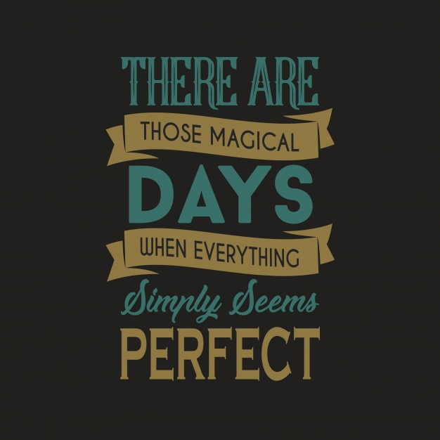 Magical days typography design Vettore Premium