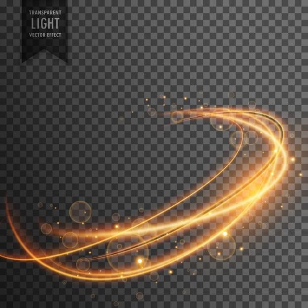 Magico effetto di luce dorata su backgorund trasparente Vettore gratuito