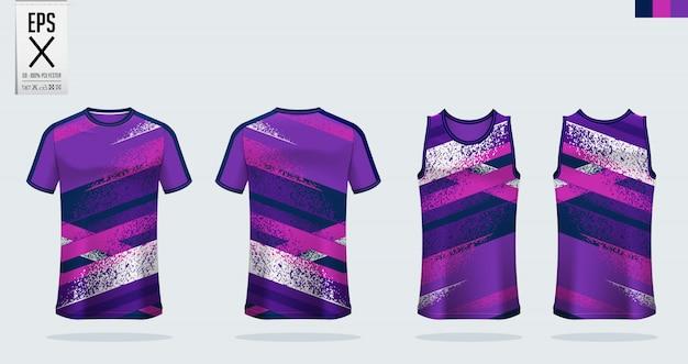 Maglia da calcio, kit da calcio, modello uniforme da basket. Vettore Premium