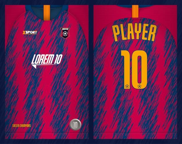 Maglia da calcio modello sportivo con design t-shirt Vettore Premium