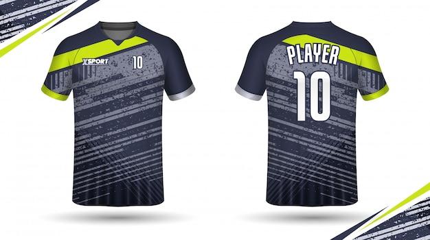 Maglia da calcio modello sportivo t-shirt design Vettore Premium