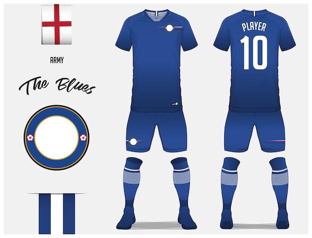 Maglia da calcio o modello kit da calcio Vettore Premium