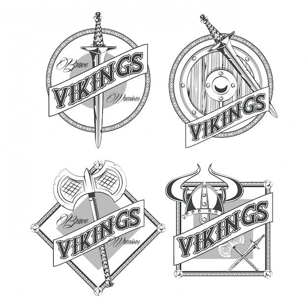 Maglietta dei guerrieri dei vichinghi stampata Vettore gratuito