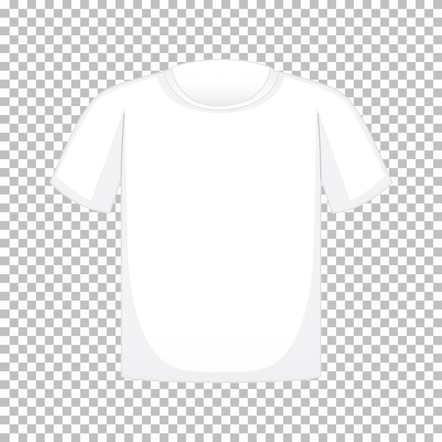 Maglietta in bianco su trasparente Vettore gratuito