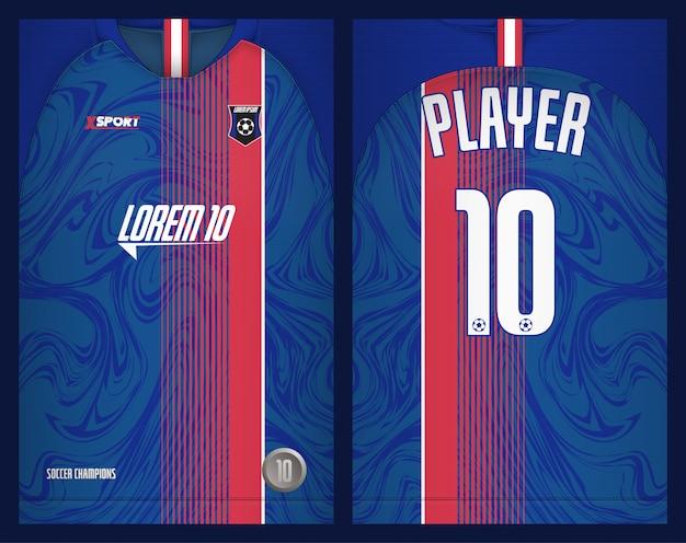 Maglietta sportiva modello maglia calcio Vettore Premium