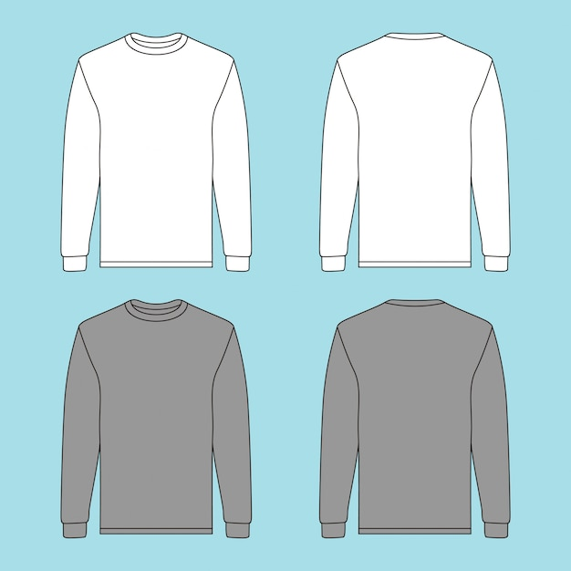 Maglione a maniche lunghe con due diversi colori Vettore Premium